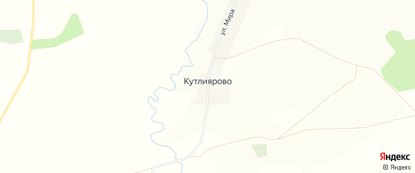 Карта деревни Кутлиярово в Башкортостане с улицами и номерами домов