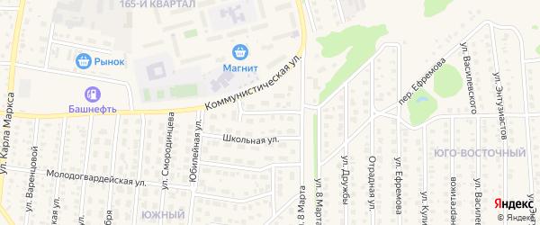 Школьный переулок на карте Бирска с номерами домов