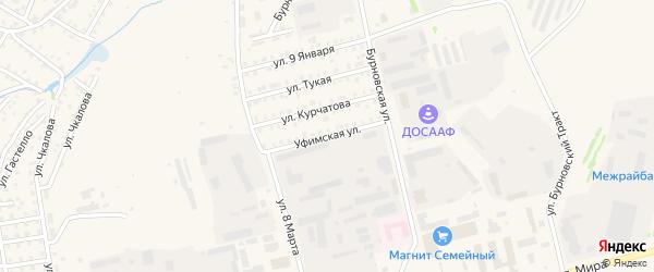 Уфимская улица на карте Бирска с номерами домов