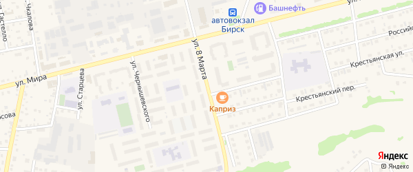 Улица 8 Марта на карте Бирска с номерами домов