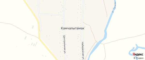 Центральная улица на карте села Камчалытамака с номерами домов
