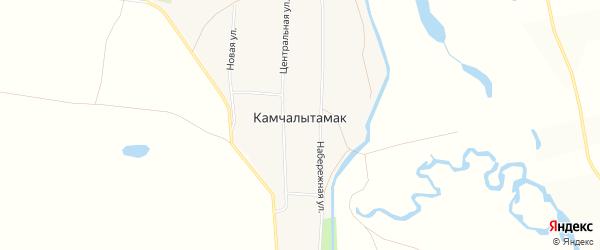 Карта села Камчалытамака в Башкортостане с улицами и номерами домов