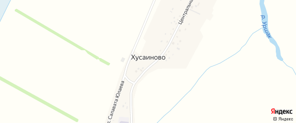 Озерная улица на карте села Хусаиново с номерами домов