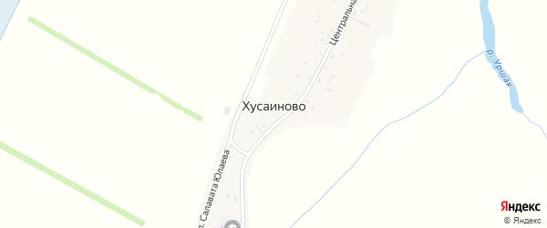 Центральная улица на карте села Хусаиново с номерами домов