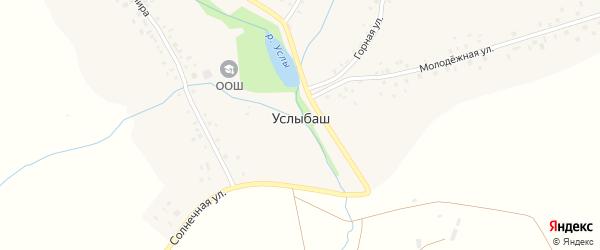 Солнечная улица на карте села Услыбаша с номерами домов