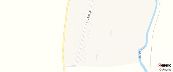 Улица Мира на карте деревни Новоянбеково с номерами домов