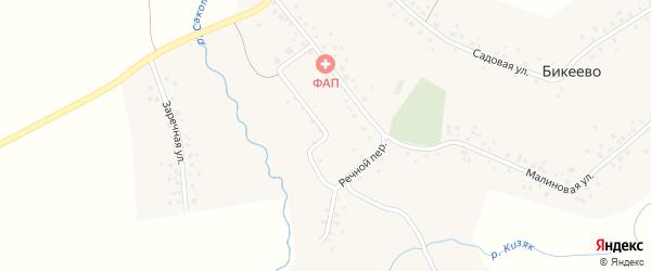 Речной переулок на карте села Бикеево с номерами домов