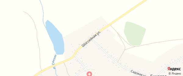 Шоссейная улица на карте села Бикеево с номерами домов