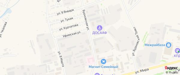 Бурновская улица на карте Бирска с номерами домов