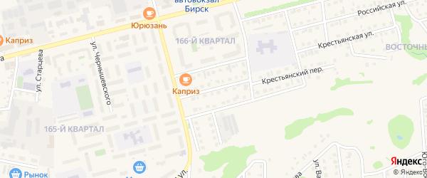 Улица Саровского на карте Бирска с номерами домов