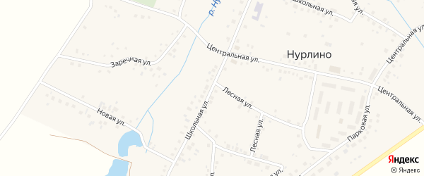 Школьная улица на карте села Нурлино с номерами домов