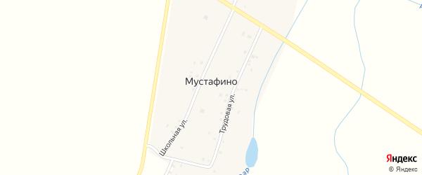 Колхозная улица на карте деревни Мустафино с номерами домов
