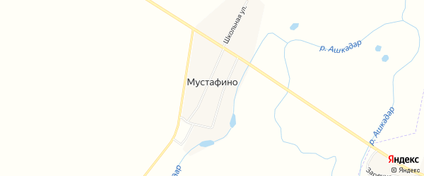 Карта деревни Мустафино в Башкортостане с улицами и номерами домов