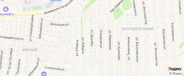 Улица Дружбы на карте Бирска с номерами домов