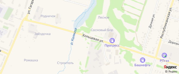 Микрорайон АЗС Кольцевая на карте Бирска с номерами домов