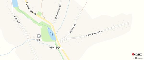 Горная улица на карте села Услыбаша с номерами домов