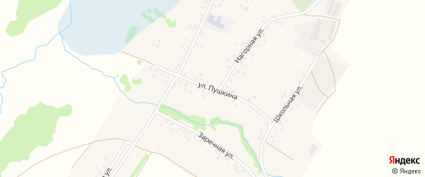 Улица Пушкина на карте деревни Гарибашево с номерами домов