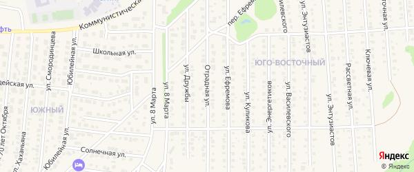 Отрадная улица на карте Бирска с номерами домов