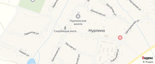 Центральная улица на карте села Нурлино с номерами домов