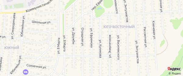 Улица Ефремова на карте Бирска с номерами домов