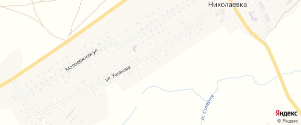Улица Ушакова на карте села Николаевки с номерами домов