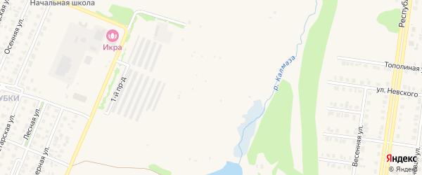 Юбилейный сад на карте Бирска с номерами домов