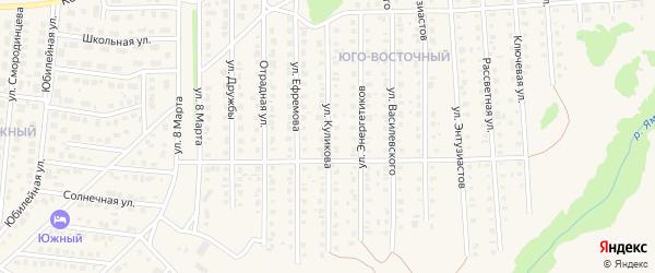 Улица Куликова на карте Бирска с номерами домов