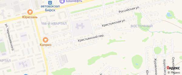 Крестьянский переулок на карте Бирска с номерами домов