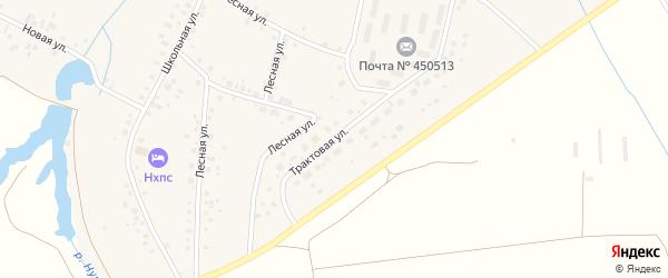 Трактовая улица на карте села Нурлино с номерами домов