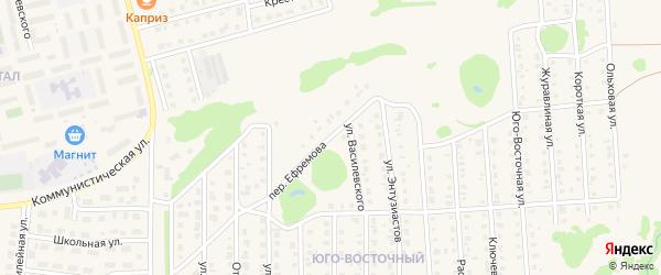 Переулок Ефремова на карте Бирска с номерами домов