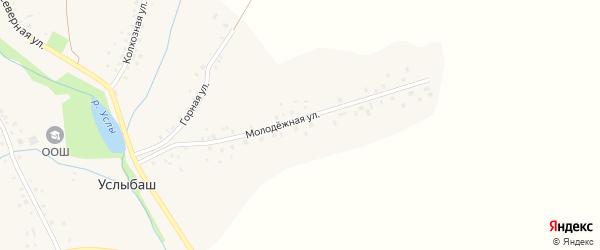 Молодёжная улица на карте села Услыбаша с номерами домов