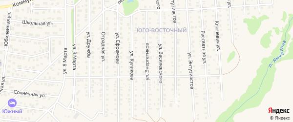 Улица Энергетиков на карте Бирска с номерами домов