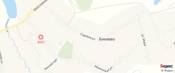 Садовая улица на карте села Бикеево с номерами домов