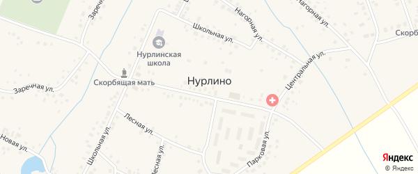 Рабочая улица на карте села Нурлино с номерами домов
