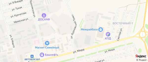 Улица Бурновский тракт на карте Бирска с номерами домов