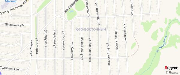 Улица Василевского на карте Бирска с номерами домов