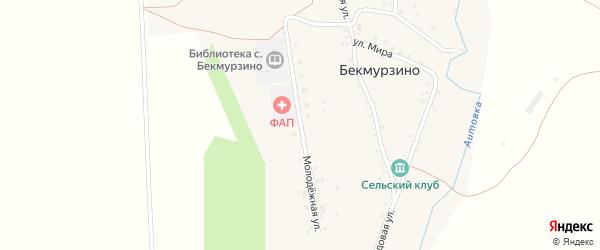 Молодежная улица на карте села Бекмурзино с номерами домов