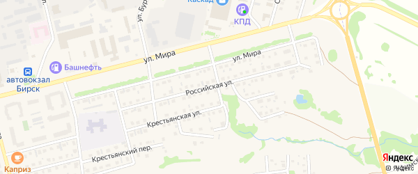 Российская улица на карте Бирска с номерами домов