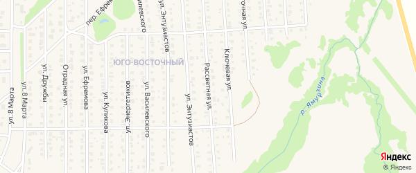Рассветная улица на карте Бирска с номерами домов