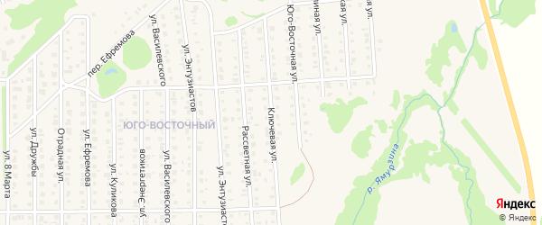Ключевая 2-я улица на карте Бирска с номерами домов