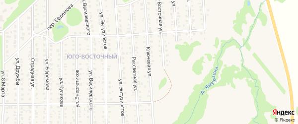 Ключевая улица на карте Бирска с номерами домов