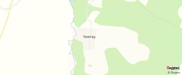 Карта деревни Чиятау в Башкортостане с улицами и номерами домов