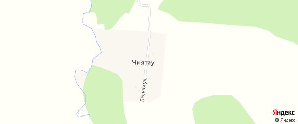 Лесная улица на карте деревни Чиятау с номерами домов