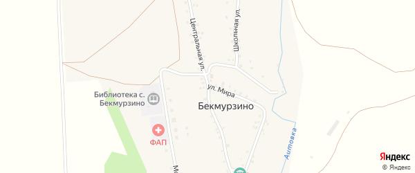 Центральная улица на карте села Бекмурзино с номерами домов