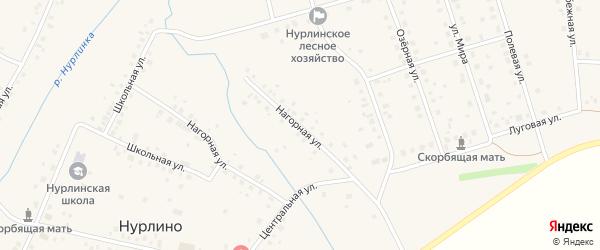 Нагорная улица на карте села Нурлино с номерами домов