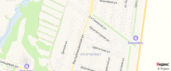 Республиканский переулок на карте Бирска с номерами домов