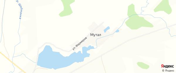 Карта деревни Мутала в Башкортостане с улицами и номерами домов