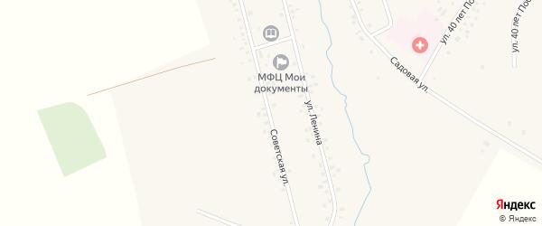 Советская улица на карте села Чураево с номерами домов