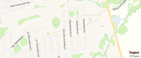 Журавлиная улица на карте Бирска с номерами домов