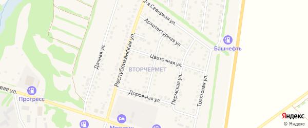 Янаульская улица на карте Бирска с номерами домов